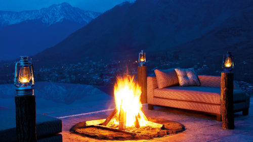 Beyond India - Greaves India fire amongst Himalayan setting