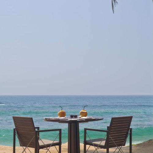 Beach club terrace