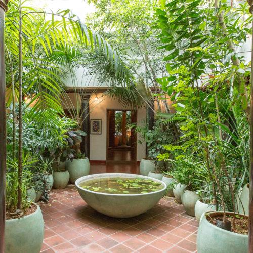 Maison Perumal garden courtyard