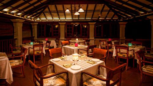 Dining area at Palais De Mahe