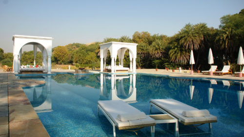 Poolside at Shahpura Bagh