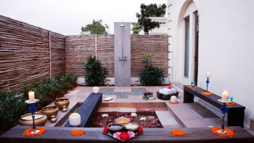 Outdoor area at Taj Nadesar Palace