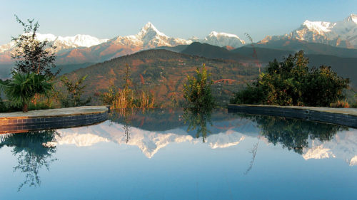 View of Tiger Mountain with swimming pool