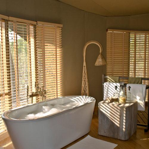 A bathroom in the Taj Banjaar resorts