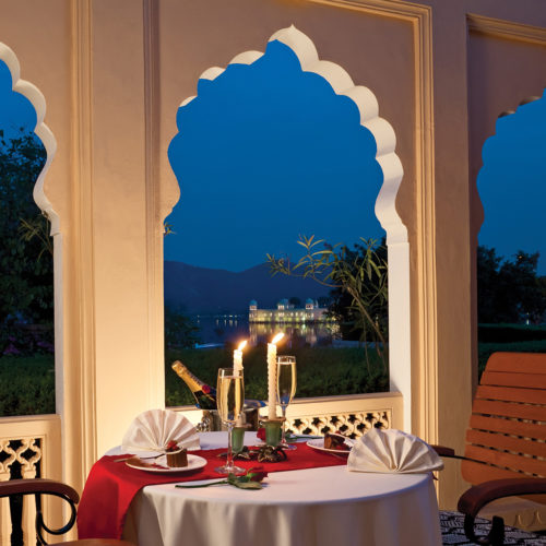 Trident Jaipur champaign dining with a view
