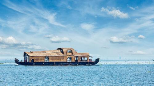 boat on lake vembanad